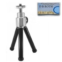 "8"" Professional STEEL Table Top Tripod For The Aiptek PocketCinema V10, V10Plus Projector, Extends To 8-Inch By DBROTH,USA"