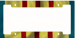 Vietnam Flag Metal License Plate Frame by Advanced Graphics