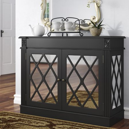 Darby Home Co Cheetham Mirrored 2 Door Accent Cabinet