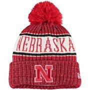 Nebraska Huskers New Era Youth Sport Knit Hat with Pom - Scarlet - OSFA