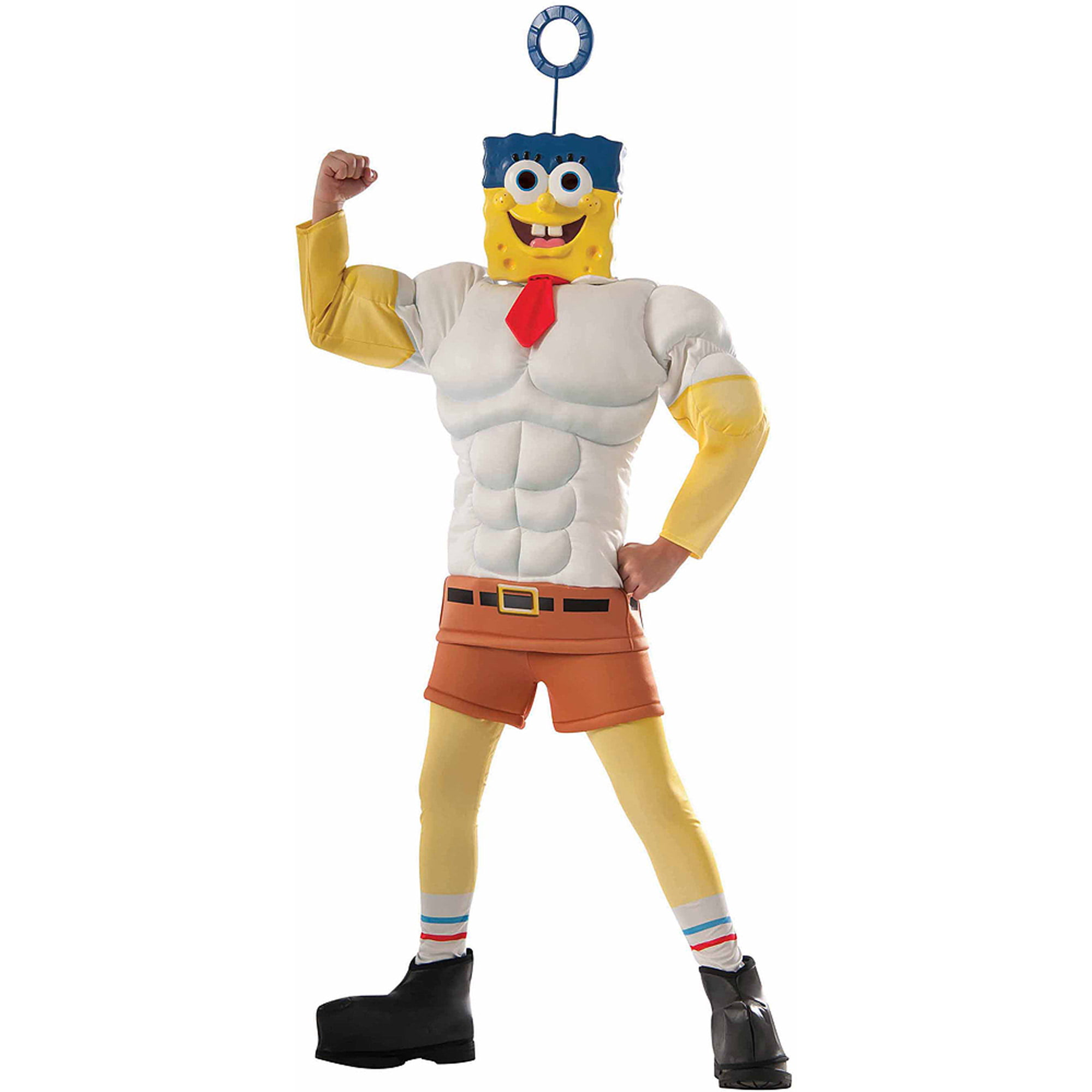 SpongeBob SquarePants Boy Muscle Chest Halloween Costume - Walmart.com