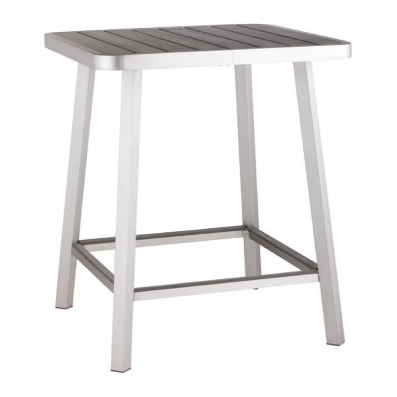 Brika Home Outdoor Pub Table in Gray by Brika Home