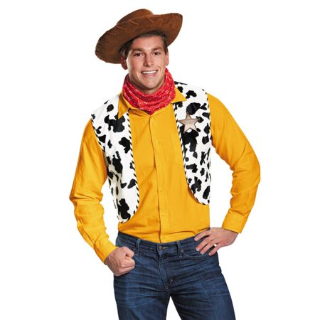 Morris Costumes DG95780 Woody Kit Adult Deluxe Exclusive Costume - Woody Halloween