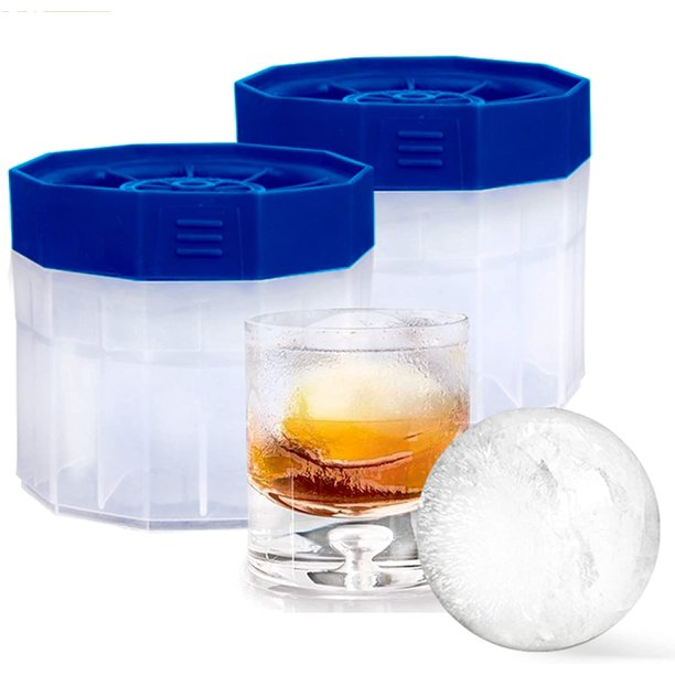 Bella Amazing Premium Ice Ball Molds Round 2 5 Inch Ice Spheres Stackable Slow Melting Round Ice Cube Maker For Whiskey And Bourbon 2 Blue Walmart Com Walmart Com