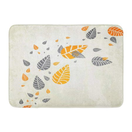GODPOK Orange Fall Brown Leaf Autumn Leaves Falling Your Own Design Colorful Abstract Border Rug Doormat Bath Mat 23.6x15.7 inch (Leaf Design Door)