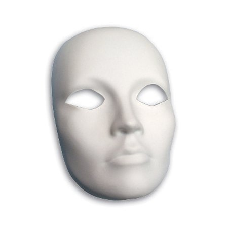 PLASTIC MASK FEMALE FACE](Mime Mask)