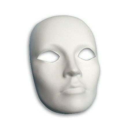 PLASTIC MASK FEMALE FACE