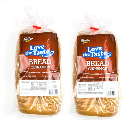ThinSlim Foods Love-the-Taste Low Carb Bread Cinnamon, 2pack Cinnamon Nut Bread