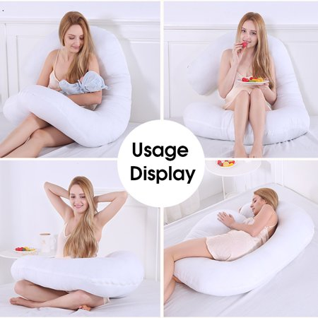 C shape  Design Pillow Pregnancy Maternity  Belly Body Pillow Soft Washable Maternity Pillow Body Pillow For Pregnant Women 55X28 inch - image 7 de 7