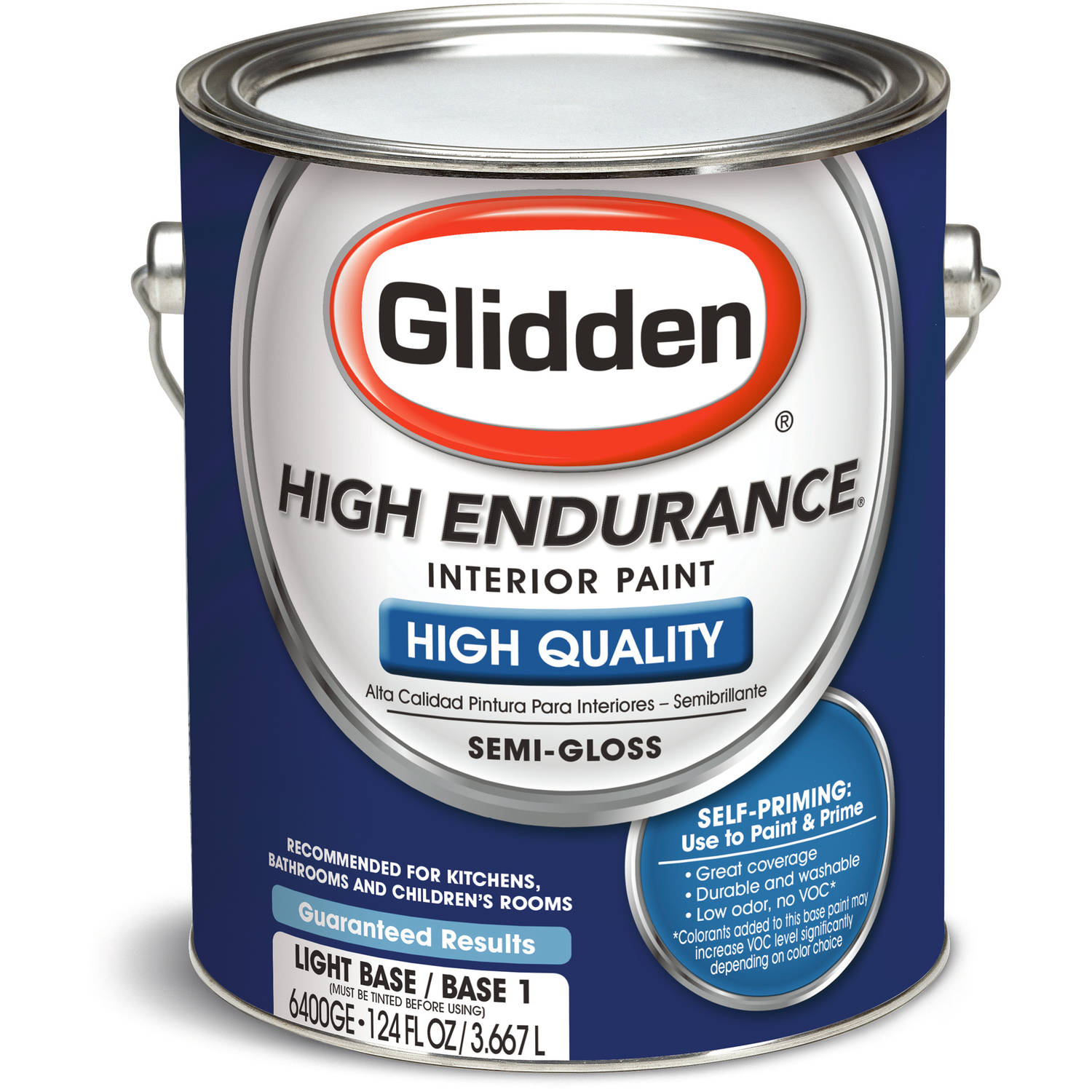 High Endurance Light Base Semi Gloss Interior Paint, 1-Gallon