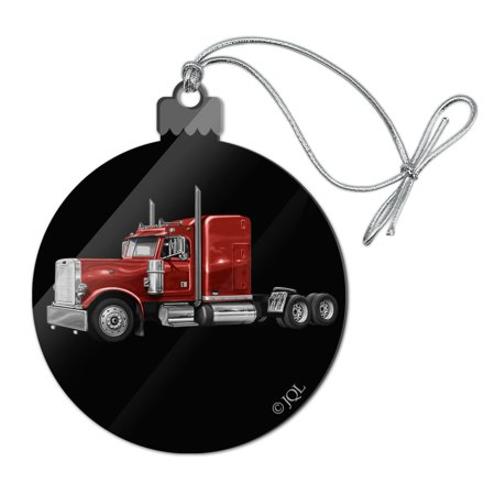 Semi Tractor Trailer Truck Trucker Acrylic Christmas Tree Holiday