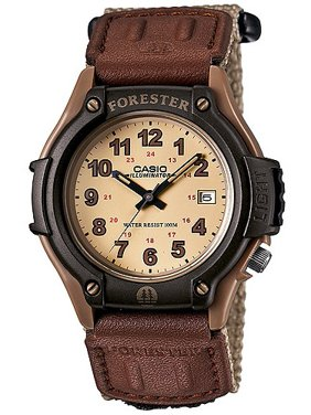 Casio Men's Forester Analog Sport Watch, Brown Nylon Strap FT500WC-5BVCF
