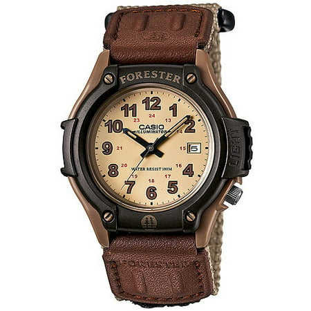 Men's Forester Analog Watch, Tan Nylon Fast-Wrap