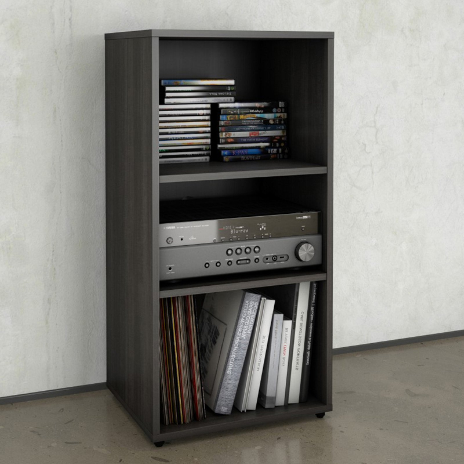 Nexera Allure Open Storage Cabinet, Ebony