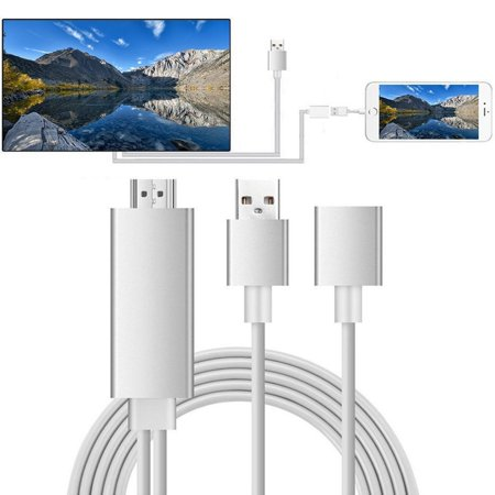 Compatible with iPhone to HDMI Cable for TV, for iPhone iPad to HDMI Adapter Cable, 1080P Digital AV HDMI Adaptor Connector Cord for iPhone Xs Max XR X 8 7 6 Plus iPad Pro Air Mini iPod, S10164