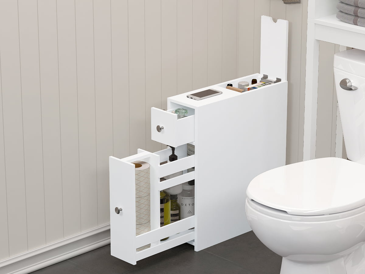 Spirich Slim Bathroom Storage Cabinet
