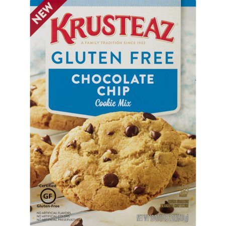 (12 Pack) Krusteaz Gluten Free Cookie Mix Chocolate Chip, 18.0 OZ