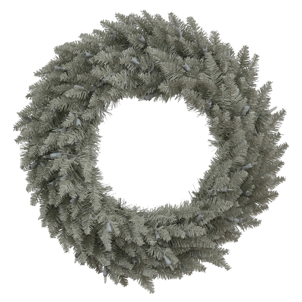 "Vickerman 32929 - 24"" Grey Fir Christmas Wreath (K136924)"