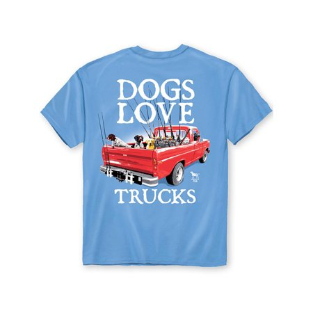 Pinterest Halloween Ideas For Babies (Dogs Love Trucks Sky Blue T-Shirt with Crew Neckline - Gift Ideas for Dog)