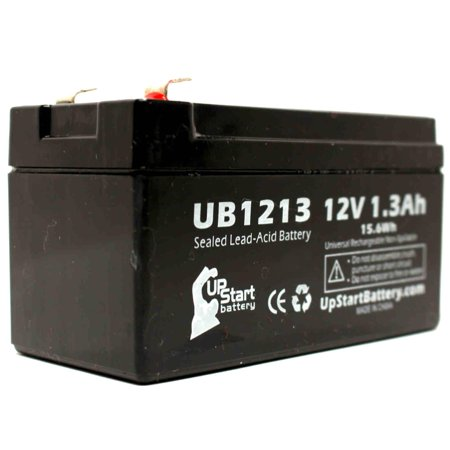4x Pack - Revco Scientific LEGACI Battery Replacement - UB1213 Universal Sealed Lead Acid Battery (12V, 1.3Ah, 1300mAh, F1 Terminal, AGM, SLA) - Includes 8 F1 to F2 Terminal Adapters - image 3 de 4