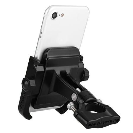 HURRISE Adjustable Motorcycle Bicycle Handlebar Mount Holder Bracket for 4-6inch Mobile Phone Black, Motorcycle Phone Holder, Bicycle Phone Holder - image 7 of 7
