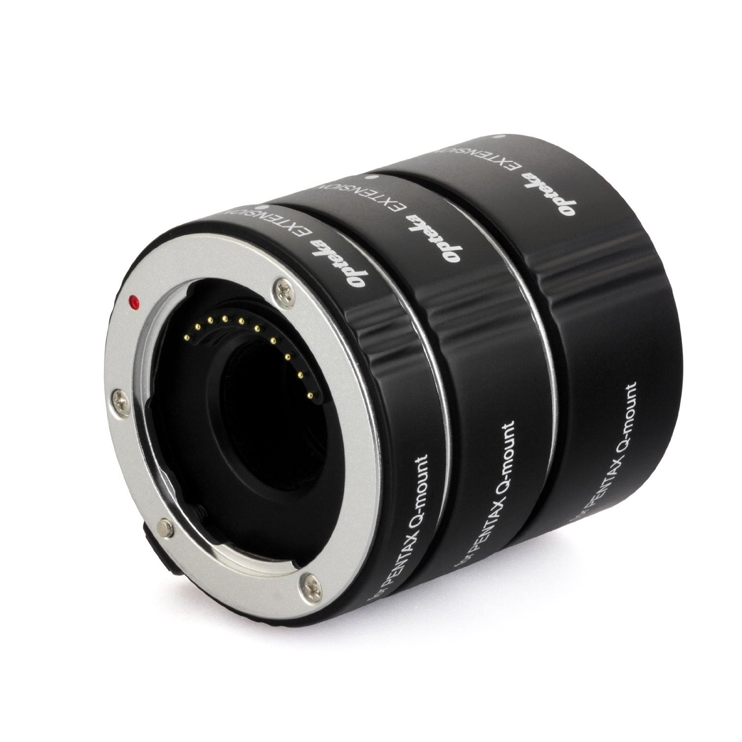 Opteka Auto Focus DG EX Macro Extension Tube Set for Pentax Q Series Mirrorless Cameras (Includes 10mm, 16mm, 21mm Tubes)
