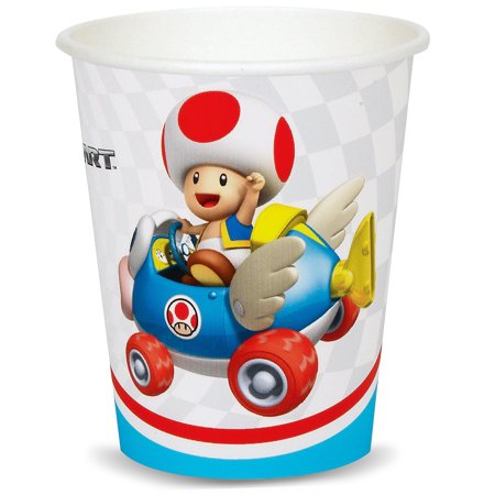 Super Mario Brothers Mario Kart Wii Party Supplies 48 Pack Paper Cups