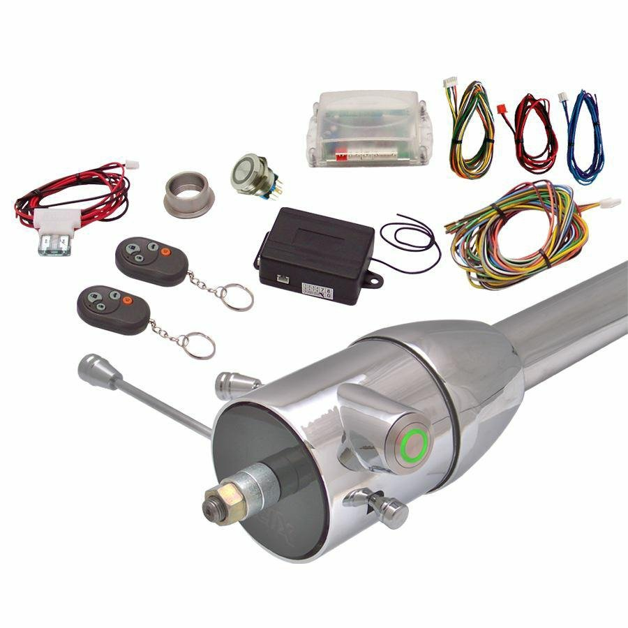 Green One Touch Engine Start Kit with Column Insert and Remote classic imca