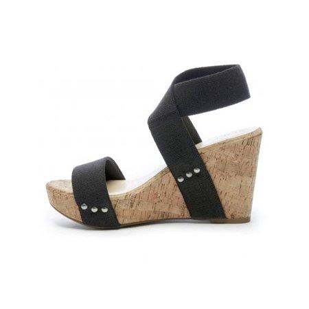 Ladies High Heel Sandal (Women Wedge High Heels Sandals Ankle Strap Peep Toe Summer Shoes Casual)