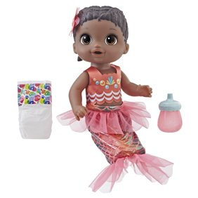 8da0d0f38de Baby Alive Shimmer  n Splash Mermaid Baby Doll (Black Hair). 1