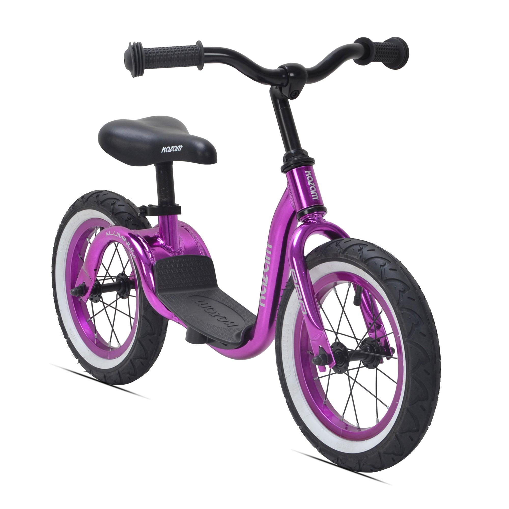 KaZAM Bikes Purple Pro Aluminum Kids No Pedal Learning Adjustable Balance Bike