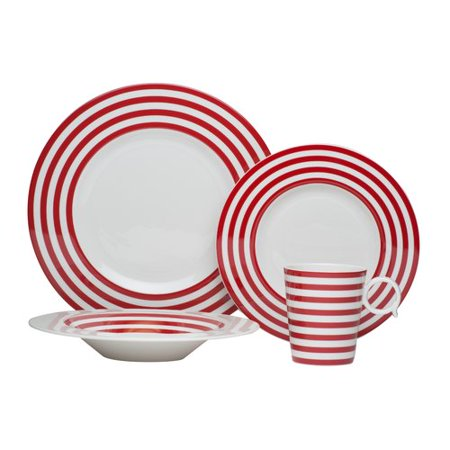 Red Vanilla Freshness 4 Piece Place Setting  Service For 1