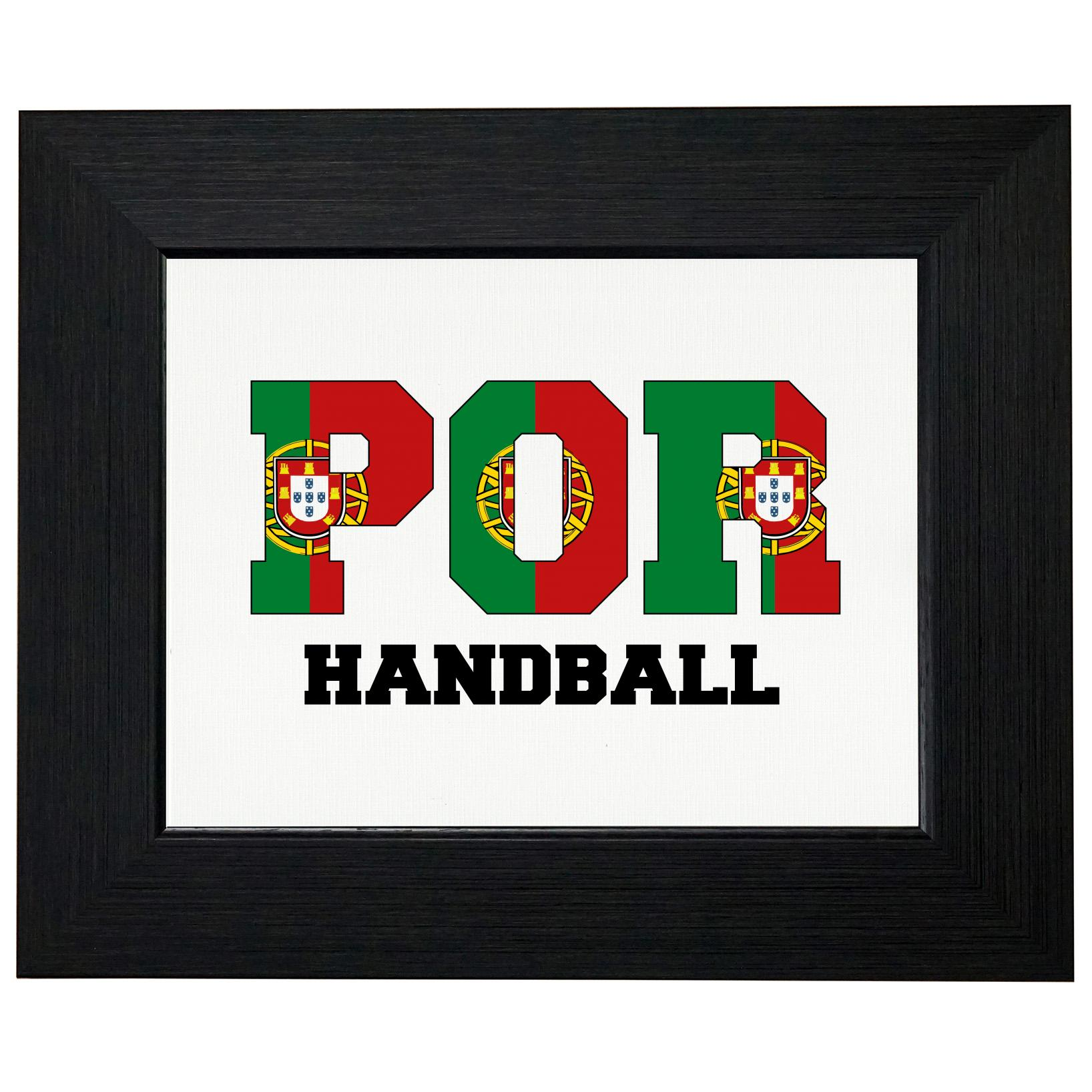 Portugal Handball Olympic Games Rio Flag Framed Print Poster Wall or Desk Mount Options by Royal Prints