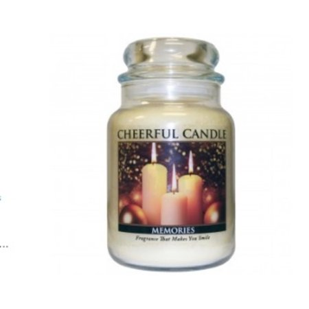 A Cheerful Giver Memories Scented 2-Wick Glass Jar Candle - 24 oz.
