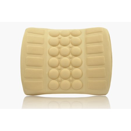 Sojoy Electronic Car Seat Cushion Massager for Lower Back, Lumbar and Hip Massage and Waist Support (Beige & Cream)