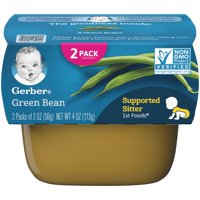 Gerber 1st Foods Green Bean Baby Food, 2-2 oz. Tubs (Pack of 8)