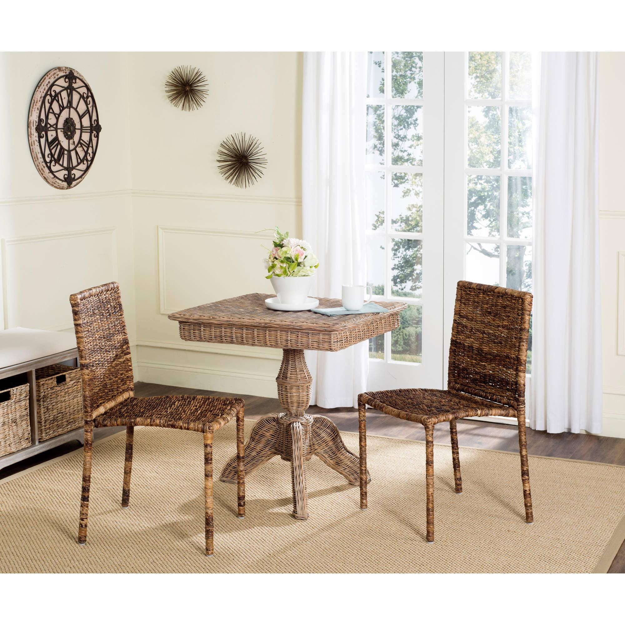 Safavieh Anra Rattan Side Chair, Brown, Set of 2 by Safavieh