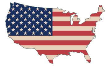 American Flag Country Outline USA Patriotic Stars and Stripes Auto Bumper Sticker Vinyl Decal For Car Truck RV... by Rogue River Tactical