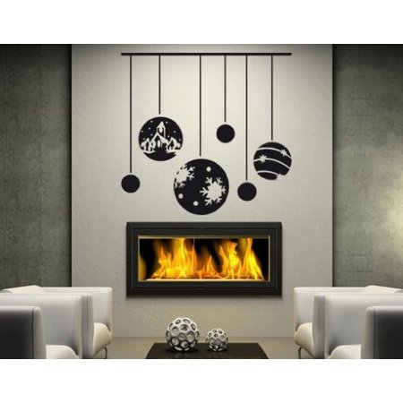 Christmas Bauble Ornaments Wall Decal Wall Sticker Vinyl Wall Art Home