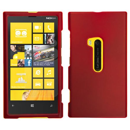 RED RUBBERIZED HARD SHELL CASE COVER FOR NOKIA LUMIA (Nokia Lumia 920 Cases And Covers India)