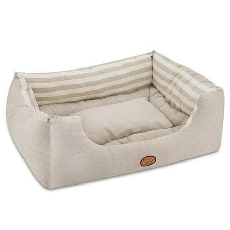 Best Pet Supplies Striped Reversible Cozy Pet Cuddler