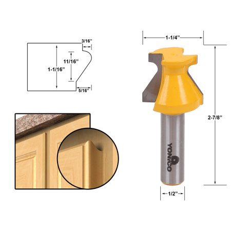 Door Lip & Finger Grip Router Bit - 1/2