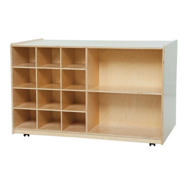 Wood Designs 16609LG Double Mobile Storage With Lime Green Trays
