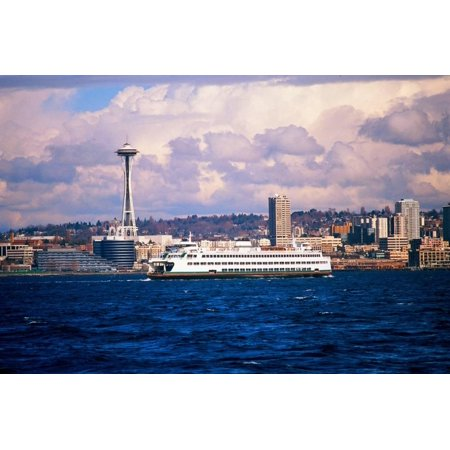 Boat in Puget Sound, Seattle beyond Print Wall Art