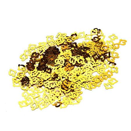 Gold Happy Birthday Confetti 13 16 18 20 21 Age Number Decor Party Supplies - Happy Birthday Confetti