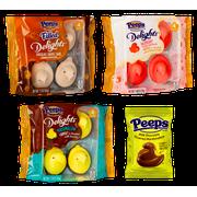 Delights Peeps Bundle  - 4 Creme Fudge Dipped Raspberry, 4 Milk Chocolate Dipped Yellow Chicks, 4 Chocolate Caramel Swirl , 1 Chocolate Covered Chick