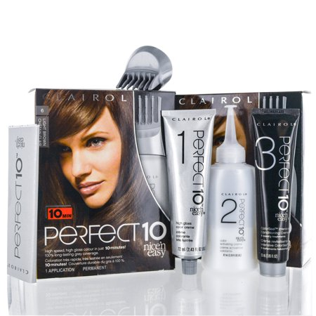 Clairol Perfect 10 Nice 'N Easy 6 Light Brown Chocolate Shake
