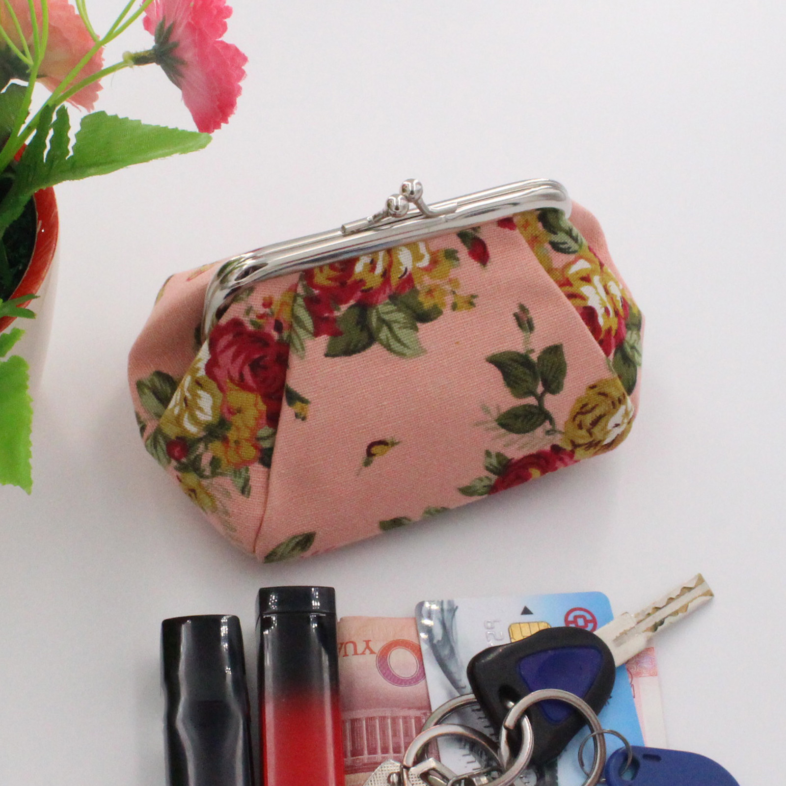 Credit Card Wallet Comical Dogs Flat Zipper Coin Purse Earbud Pouch IPod Holder