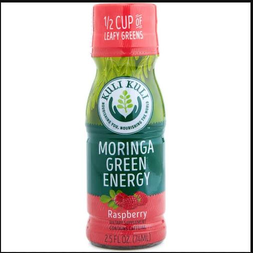 Kuli Kuli Green Energy Moringa Shots, Raspberry, 12 Ct