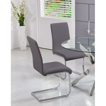 Best Master Furniture's Mirage Faux-Leather Dining Chairs (Set of